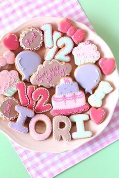 Half birthday icing cookies.
