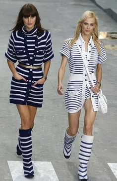Be simple and natural to get noticed as #sailor #Chic in #Nautical style summer #outfits