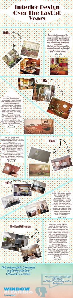 Interior design has changed drastically over the years. Take a look at the best (and the worst) trends people came up with over the last 50 years! Interior Design Courses, Kitchen And Bath Remodeling, Best Savings, Window Cleaner, Arts And Entertainment, Design Trends, Interior Decorating, Entertaining, Georgian