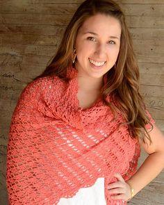 Picture of Flamingo Shawl Crochet Pattern