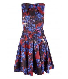 Closet Bloomsbury Multi Floral Flared Belted Skater Dress - New In