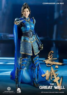 "Threezero 1/6th scale ""The Great Wall"" Commander Lin Mae collectible figure"