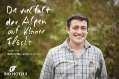 Stefan Vill, Ihr Gastgeber im Landhotel Anna & Bio-Reiterhof Vill ***  #biohotel in #Schlanders #Südtirol #Italien