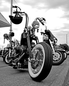 Roadside chopper Art Print by Vorona Photography Bobber Motorcycle, Bobber Chopper, White Motorcycle, Vintage Motorcycles, Custom Motorcycles, Custom Harleys, Classic Car Show, Classic Cars, Harley Davidson Trike