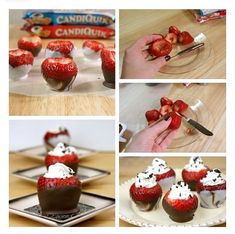 DIY strawberry creme food eat diy food yum food cravings eats yummy food diy food ideas easy diy diy food diy food ideas party ideas desert recipes recipes party favors