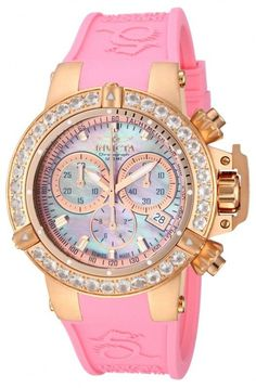 Invicta Womens Subaqua NOMA III Swiss Made Morganite Bezel Rose Gold Pink Watch #Invicta #LuxurySportStyles