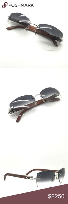 daf40fd44165 Cartier Sunglasses Extremely beautiful Cartier Wood Sunglasses Custom  Cartier Logo Lenses Cost 3000  Retail Cartier