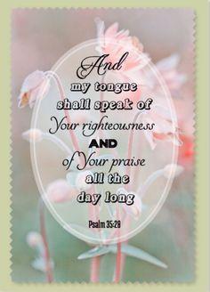 Psalm 35:28