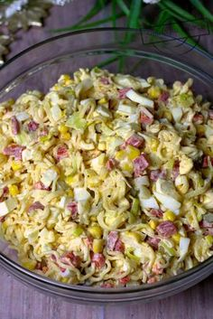 Polish Recipes, Healthy Salad Recipes, Kraut, Lunches And Dinners, Pasta Salad, Good Food, Food And Drink, Nutrition, Cooking