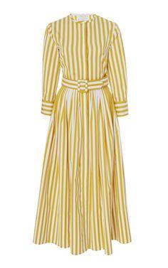 Get inspired and discover Oscar de la Renta trunkshow! Shop the latest Oscar de la Renta collection at Moda Operandi. Tea Length Dresses, Day Dresses, Casual Dresses, Summer Dresses, Fashion Wear, Fashion Outfits, Frock For Women, Iconic Dresses, Striped Shirt Dress