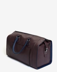 Leather holdall - Oxblood | Bags | Ted Baker