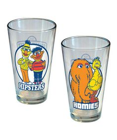 Add some personality to any drink or table with these unique glasses. Featuring bold decals of classic Sesame Street characters, they're sure to be as timeless as the show itself.