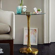 Molded Brass Side Table #westelm
