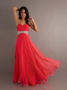 A-Linie Herzform Bodenlänge Chiffon Schöne Kleid
