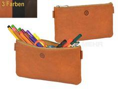 Sonnenleder BUSCH - Leder Schreibetui Stiftetui Stiftbox Stifteetui - 3 Farben