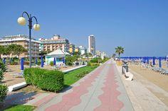 Lido di Jesolo, an almost 7-mile long sandbar sitting in the Venice Lagoon and Adriatic Sea