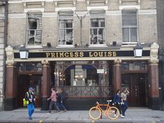 The Princess Louise is a famous pub in Holborn, Central London, know for its traditional Victorian interior. If you're looking for a traditional Great British Pub, The Princess Louise is the place to go.  Photo: princesslouisepub.co.uk