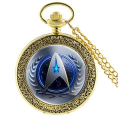 Antique Bronze 11 Style Star Trek Quartz Pocket Watch With Necklace Steampunk Men Women Fob Gift Xmas