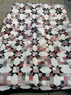 Queen Size Quilt & Matching Pillowcase - Handmade. Mama Said Sew Fabric Collection. $550.00, via Etsy.