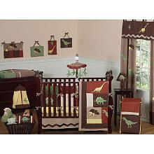 "Sweet JoJo Dinosaur Land Collection 9-Piece Crib Bedding Set - French Toast - Babies ""R"" Us"
