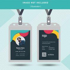 Wave Id Card Design Name Tag Design, Id Card Design, Id Design, Beauty Business Cards, Cool Business Cards, Business Card Design, Creative Poster Design, Creative Posters, Identity Card Design