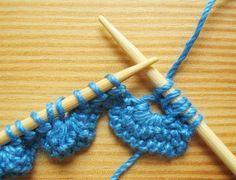Scalloped Knitting Edge Stitch