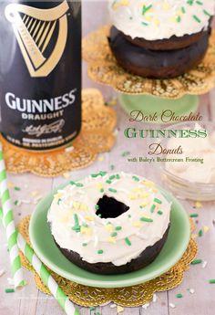 Dark Chocolate Guinness Donuts