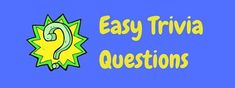 Warm up your brain with these free easy trivia questions and answers before you move onto some of our harder questions. Read more now. Christmas Trivia Questions, Trivia Questions For Kids, Hard Questions, This Or That Questions, Trivia For Seniors, Free Trivia, Adele Songs, Movie Facts, Movie Trivia