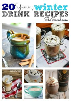 Lattes, Hot Chocolates, and Ciders, oh my! 'Tis the season to warm up. These 20 Winter Drink Recipes are sure to do the trick!