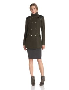 Amazon.com: Vince Camuto Women's Military Double Breasted Wool Coat: Clothing