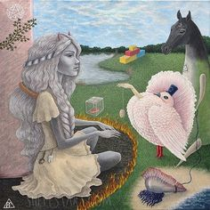 Absit! #shelestart #popsurrealism #painting #lowbrow #lowbrowart #acrylicpainting