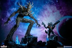 Rocket Raccoon and Groot Sideshow Collectibles Statues