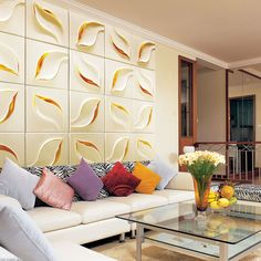 Set of 4 3D Wall Art Panels | Petal by Newdecor 3D Wall Art on THEHOME.COM.AU