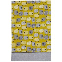 Ulster Weavers Dotty Sheep Cotton Tea Towel (1020 RSD) ❤ liked on Polyvore featuring home, kitchen & dining, kitchen linens, cotton kitchen towels, polka dot kitchen towels, ulster weavers and cotton tea towels