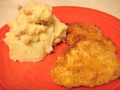 Parmesan Pork Cutlets and Mashed Potatoes by Back to the Cutting Board, via Flickr