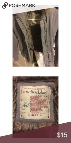 Anchor Blue Girls Hoodie ⚡️Reduced $⚡️ Gray color, size XS for girls or i think Size XXS for women, great worn conditions! We are smoke free home but we have dogs. All my items (except the new with tags) will be washed before shipping. Make a bundle a save! Thanks and blessings!!! Thank you for share my lists!!! 😘🌹 Anchor Blue Shirts & Tops Sweatshirts & Hoodies