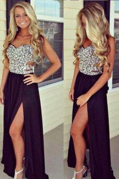 nolajudy:   Natural Waist Chiffon Sequin A Line Sweetheart... #dress #cute #fashion #modern #design #dresses #gown #prom #longdress #shortdress #cute #dresses #wedding #party #girl #women