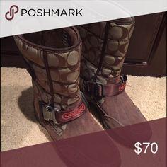 Coach boots Adorable Coach boots. Never worn!!! Coach Shoes Winter & Rain Boots