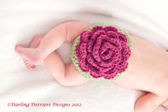 Rose Diaper Cover & Headband by DarlingDerriere on Etsy