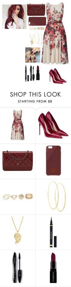 """Felicity"" by briquel13287 ❤ liked on Polyvore featuring Phase Eight, Miu Miu, Chanel, Native Union, Lana, Sonal Bhaskaran, Yves Saint Laurent, Lancôme and Smashbox"