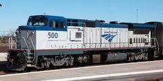 (P32-8WH) Amtrak #500    G.E. P32-8WH.   (AAR)  B-B   Built 1991.   3200 H.P..