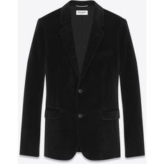 Saint Laurent Classic Single-breasted  Jacket ($1,665) ❤ liked on Polyvore featuring men's fashion, men's clothing, men's outerwear, men's jackets and yves saint laurent