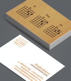 Brown and black acoustic electric guitars yin yang business card create customised business cards from a range of professionally designed templates from moo reheart Image collections