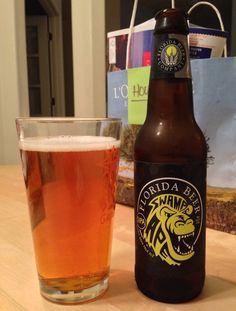 Friday, July 11, 2014: Swamp Ape IPA, Florida Beer Company.  www.floridabeer.com/1_swamp_ape_ipa.html  #ipa # fla #craftbeer