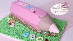 Einschulungstorte I Torte zum Schulanfang I Buntstift Torte