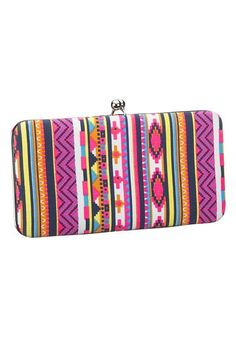 summer accessories: ethnic print fabric wallet #maurices
