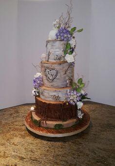 Woodland rustic wedding cake - Cake by The Sugar Bowl by Teresa