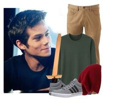 """""""OOtD ~Peter"""" by only-love-me-when-im-wasted ❤ liked on Polyvore featuring Dockers, Uniqlo, Halogen, adidas, men's fashion and menswear"""