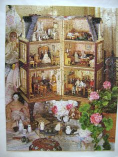 Vintage Springbok Jigsaw Puzzle Dollhouse Memories in Miniature