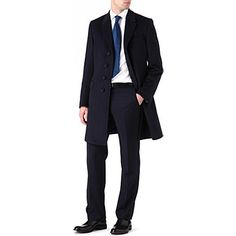 PAUL SMITH LONDON Single-breasted cashmere coat (Navy)